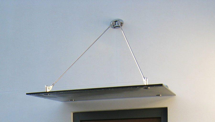 Corole single panel glass canopy
