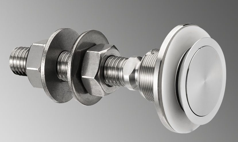 R 1101 Small Glass Facade Swivel Fitting