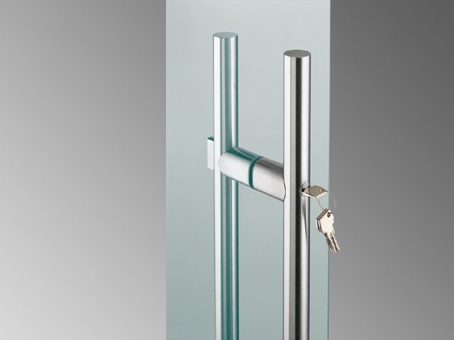 Glass Door Handles with Locks
