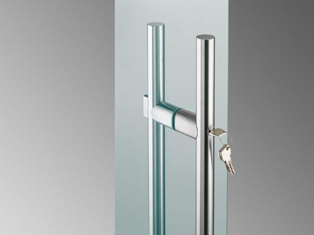 Glass Door Handle with Locks