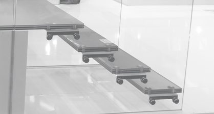 glass stair mounting brackets